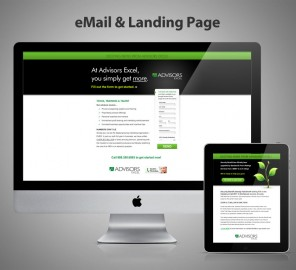Advisors Excel Email and Landing Page