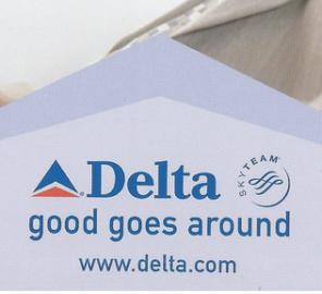 Delta Skymiles Postcard